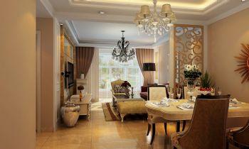 【旭宸装饰3.2万精装城市之光92平米简欧风格两居室】欧式风格小户型