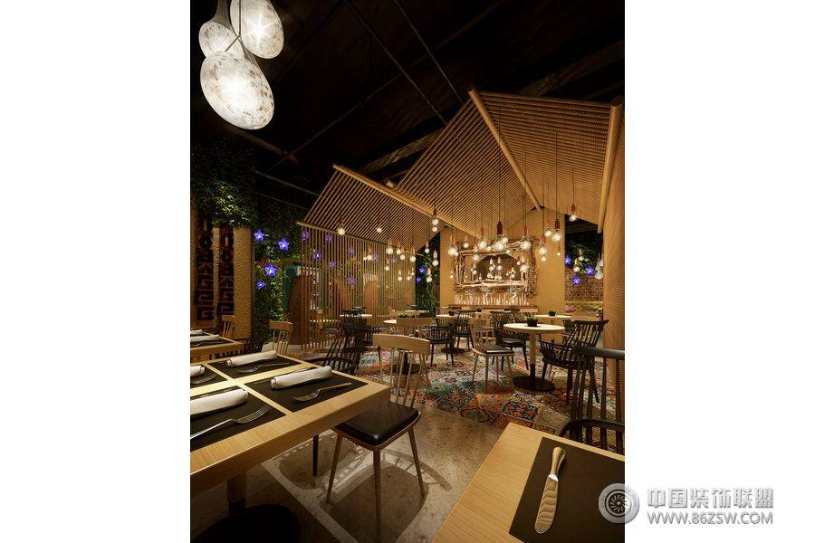 北京时尚餐厅设计案例-餐馆装修图片