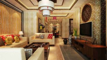 经典中国风搭配现代元素中式风格二居室