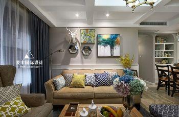100平米美式三居设计案例