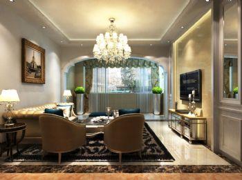 美景鸿城欧式风格三居室