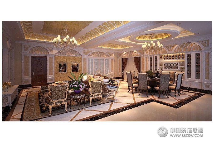 欧式奢华别墅设计图v别墅-别墅装修餐厅园江南锦图片图片