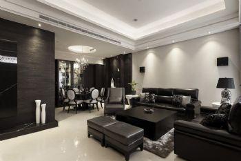 华丽黑色质感大宅设计