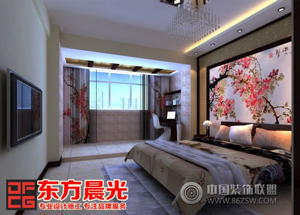 东方晨光古建筑设计装修稳重大气-卧室装修图片