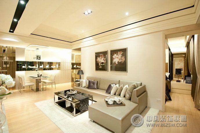 72平米现代简约小户型设计-客厅装修图片