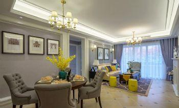 140平优雅美式公寓,一种有情趣的生活姿态美式风格三居室