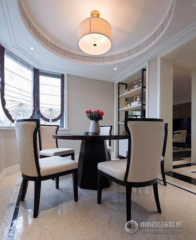 145平米美式摩登豪宅设计-餐厅装修效果图-八六