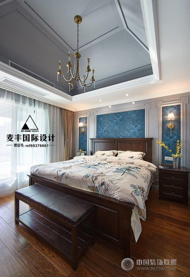 【麦丰装饰】160平米美式装修案例-卧室装修图片图片