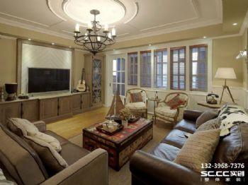 兰州家和蓝岸丽舍153㎡美式混搭温馨三居美式风格三居室