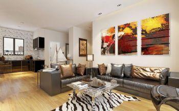 现代色彩风青岛城阳各类小区风格装修图现代风格三居室