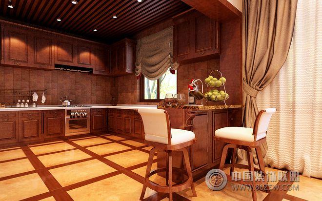 新中式风格别墅设计图-厨房装修效果图-八六(中国)