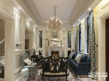 兰州实创装饰260㎡自在不羁美式别墅美式风格别墅