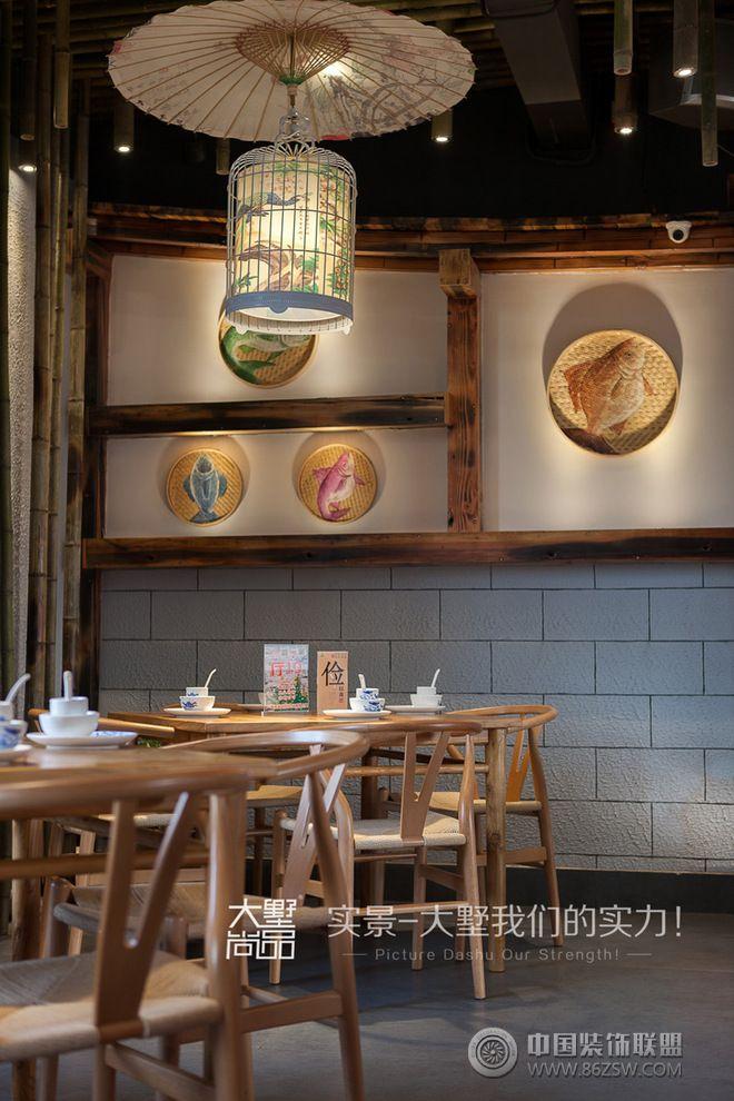 500㎡复古风文艺餐厅装修案例-餐馆装修图片