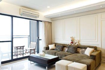 125平米美式三室两厅装修案例
