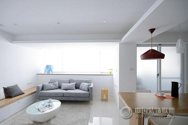 清新简约出租房装修效果图-客厅装修图片
