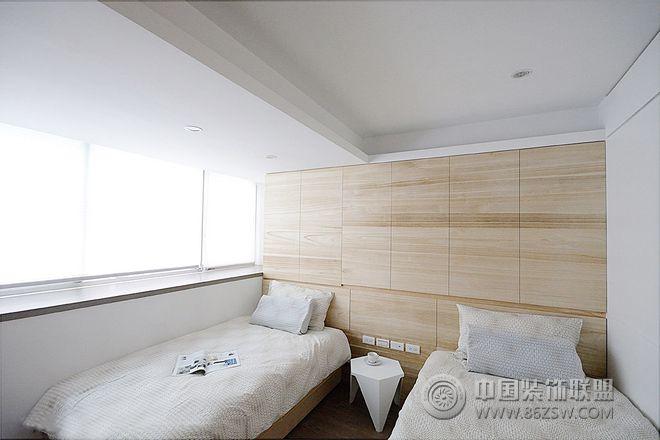 清新简约出租房装修效果图-卧室装修效果图-八六