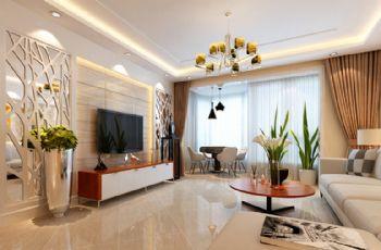 德尚世家装修效果图现代风格二居室