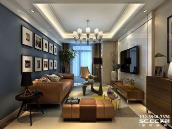 兰州实创装饰海亮滨河壹号92㎡现代简约风简约风格二居室
