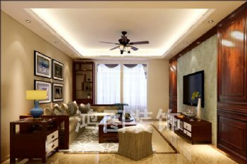 伴山壹号装修案例中式风格三居室