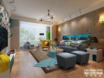 兰州实创装饰锦绣半岛120㎡独树一帜后现代现代风格三居室