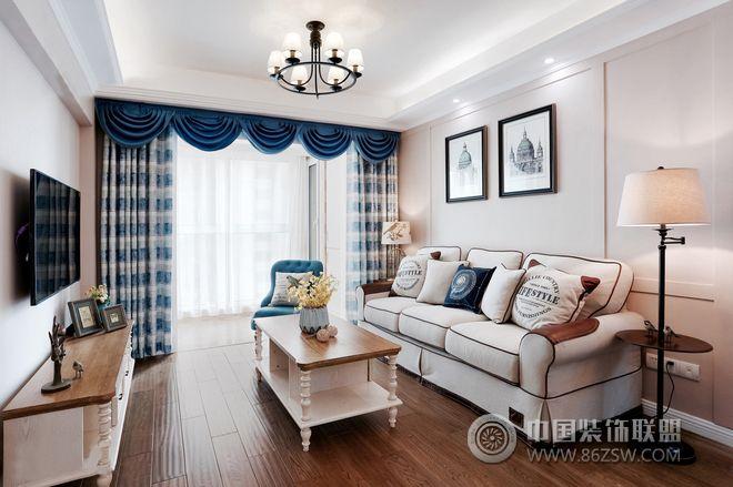 简约美式风格小户型装修案例-客厅装修图片