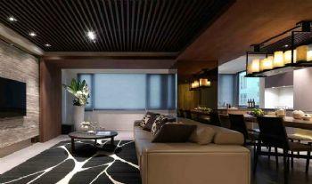 现代低调奢华三居装修案例