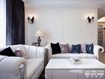 兰州格林小镇120㎡简欧实景完工图 洁净纯白 绝美不凡欧式风格二居室