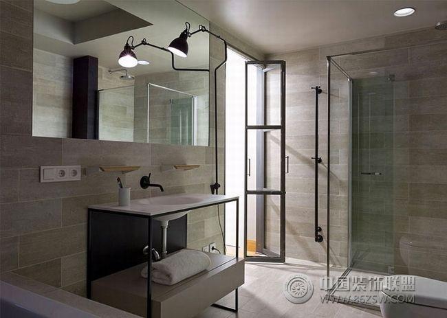 轻灰简约公寓设计案例-卫生间装修图片