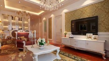 金地格林欧式风格装修案例欧式风格三居室