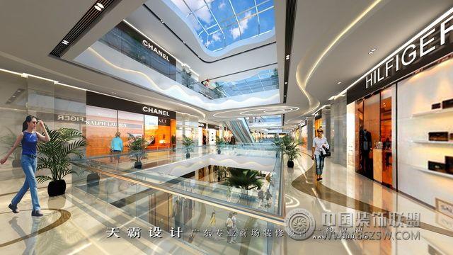 河南购物中心设计效果图:周口天鸿世贸广场-商场装修图片