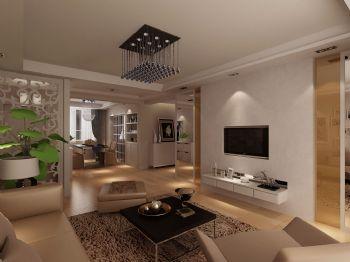 香江比华丽户型方案现代风格三居室
