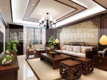 上海滩花园古典风格三居室