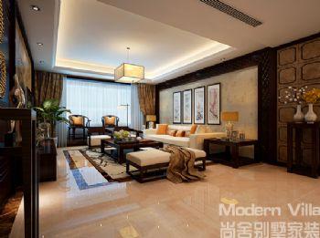 高速花园中式风格三居室