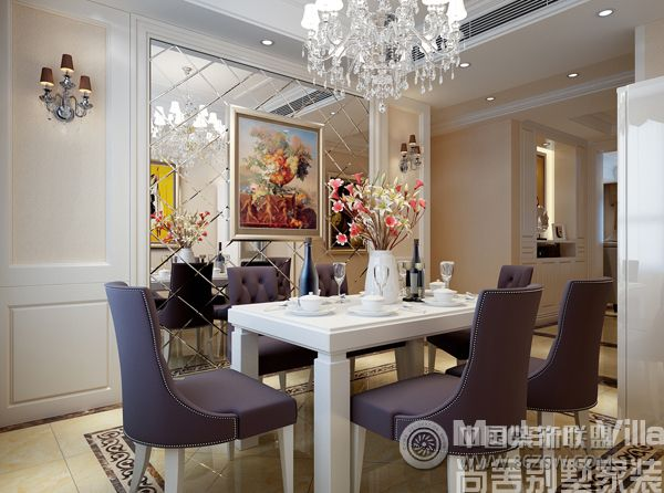 领秀城180平四居室欧式客厅装修图片