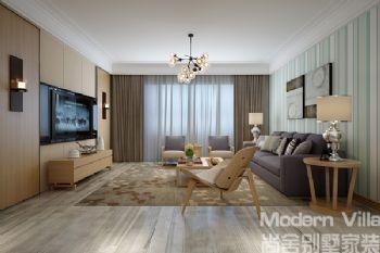 华润中央公园3现代风格三居室