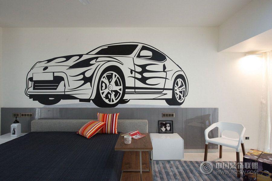 现代简约双层小别墅设计-卧室装修效果图-八六(中国)