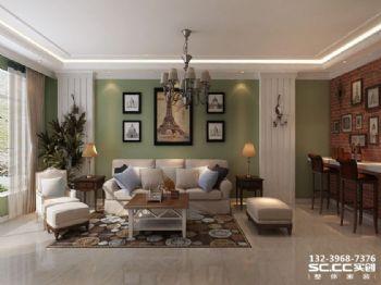 兰州实创装饰110㎡美式格调两居美式风格二居室