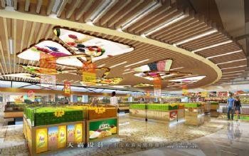 成都超市装修客户可参考的精品超市设计效果图