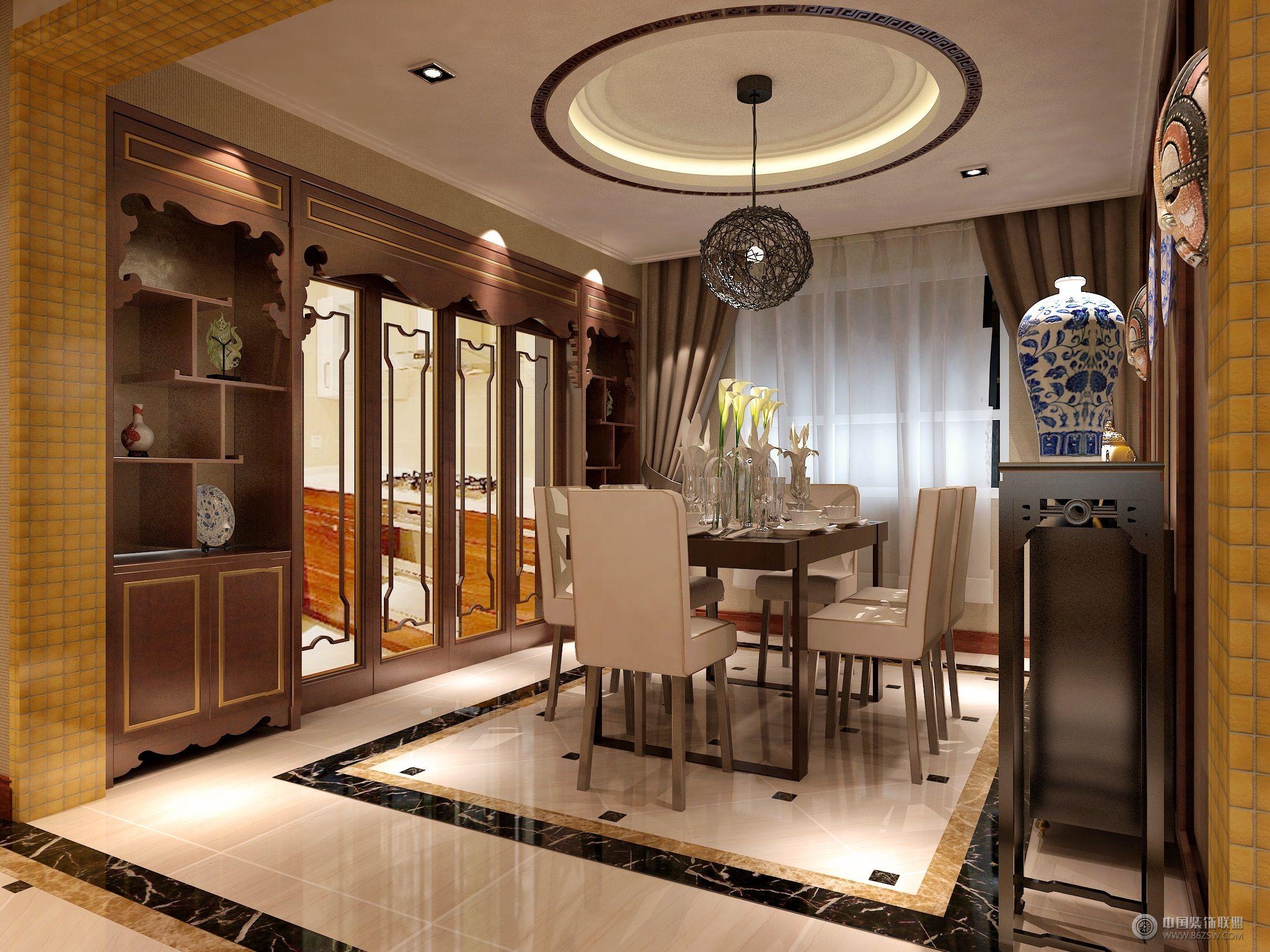 美的166㎡ 中式风格-厨房装修图片
