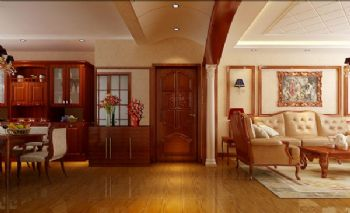 祝福红城古典风格三居室
