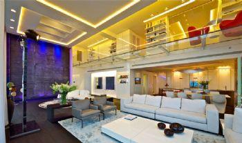 顶层全景豪华公寓装修案例