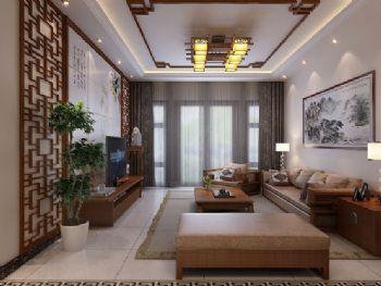 传统中式三居装修设计图