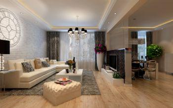 90平米现代简洁二居设计