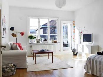 邯郸实创装饰48㎡摩登公寓,幸福从来都与房子大小无关美式风格小户型