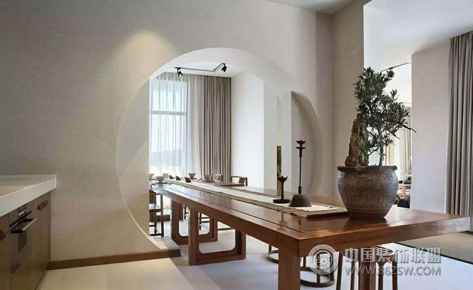 中式禅意别墅设计案例欣赏-书房装修效果图-八六(中国