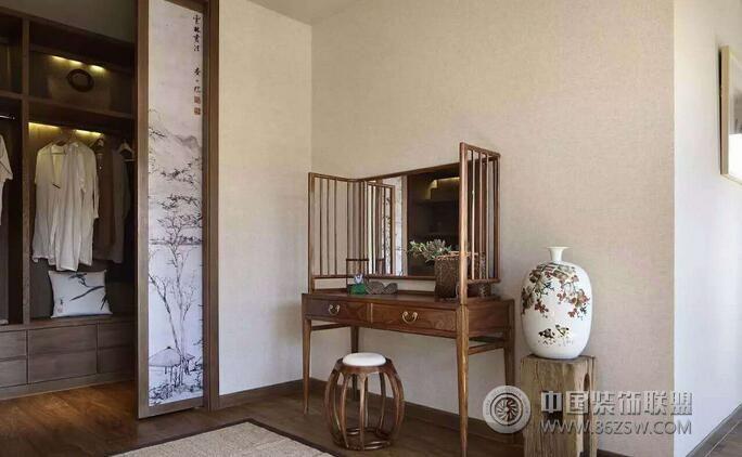 中式禅意别墅设计案例欣赏-过道装修图片