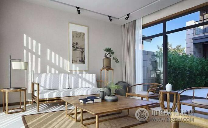 中式禅意别墅设计案例欣赏-客厅装修图片