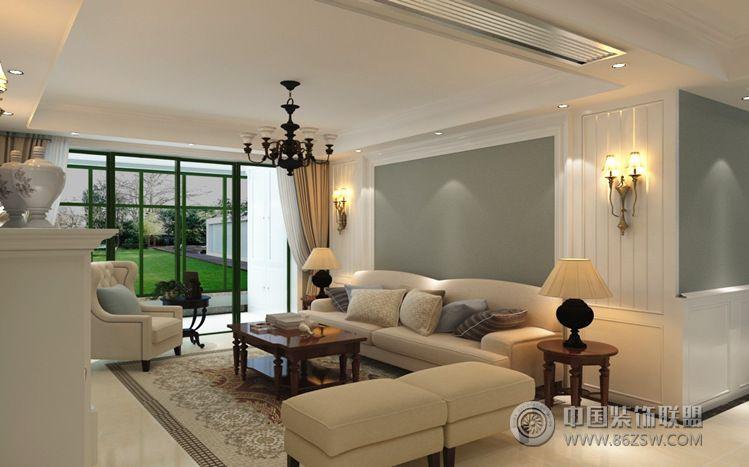 清新舒适郊区别墅设计图-客厅装修效果图-八六(中国)