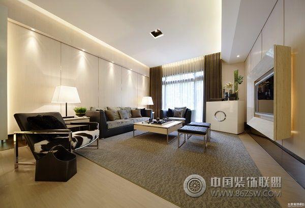 金城时代广场-客厅装修效果图-八六(中国)装饰联盟