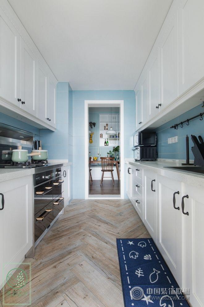 浅蓝经典 北欧三居设计案例-厨房装修图片